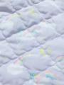 アップ画像 - ラベンダーユニコーン柄ベビーケープ