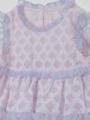 アップ画像 - ベビーピンク柄ベビーワンピース