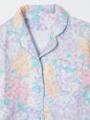 トップスアップ画像 - ラベンダーマルチフラワー柄パジャマ