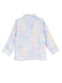 トップス背面画像 - ラベンダーマルチフラワー柄パジャマ