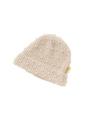 ピンクベージュのキッズニット帽です。