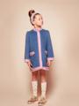ブルー着用写真(年齢6才、身長128cm、着用サイズ130cm)