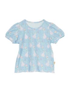 ブルーシンデレラ柄のパフスリーブTシャツです。
