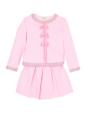 セットアップイメージ画像(スカートは別売りです) - ピンク色キッズカーディガン