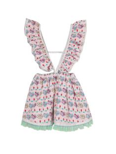 ピンクケーキ柄のジャンパースカートです。