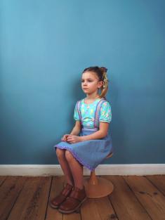 着用写真(年齢7才、身長128cm、着用サイズ130cm)