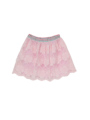 背面画像 - ピンクレース柄スカート