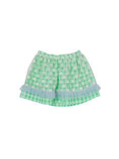 グリーン色のキッズスカートです。