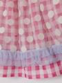 アップ画像 - ピンク色キッズスカート