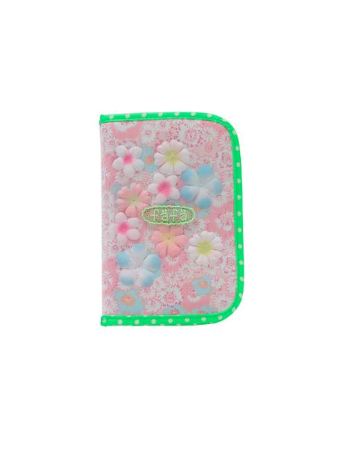 ピンクフラワー柄のマルチ・母子手帳ケース(S)です。
