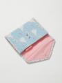 内側画像-ブルーシンデレラ柄のマルチ・母子手帳ケース(スナップ)