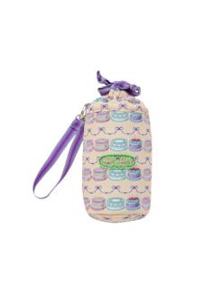 アイボリーケーキ柄のペットボトルケースです。