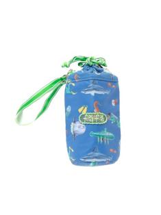 ブルーフィッシュ柄のペットボトルケースです。