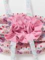 アップ画像 - ピンクケーキ柄ランチポーチ