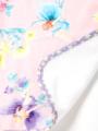 ピンクフェアリー柄のハンドタオルです。