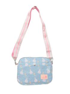 ブルーシンデレラ柄の通園バッグです。