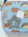アップ画像 - ブルーフード柄通園バッグ