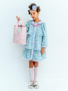 ピンクユニコーン柄のミニレッスンバッグです。