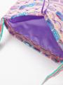 内装画像 - アイボリーケーキ柄巾着バッグ
