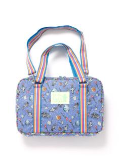 ブルースペース柄の習字バッグです。