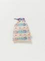 小サイズ - アイボリーケーキ柄巾着セット